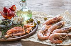 Ingredients for Mediterranean diet Royalty Free Stock Images