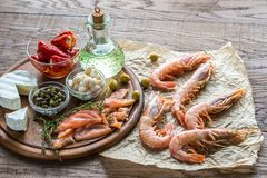 Ingredients for Mediterranean diet Royalty Free Stock Photography