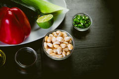Ingredients of Mexican cuisine, cooking courses Royalty Free Stock Images