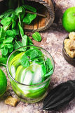 Ingredients for Mojito cocktail Royalty Free Stock Images