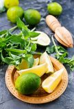 Ingredients for mojito Stock Photos