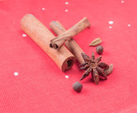 Ingredients for mulled wine Royalty Free Stock Photography