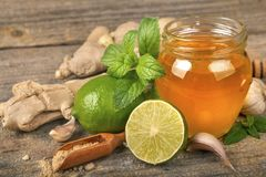 Ingredients of natural nutrition and medicine royalty free stock photography