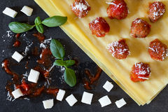 Ingredients For Neapolitan Lasagna Royalty Free Stock Photos