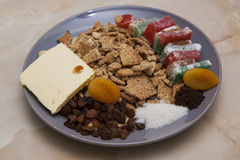 Salami biscuit ingredients Royalty Free Stock Images