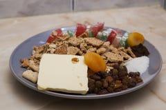 Salami biscuit ingredients Royalty Free Stock Photo