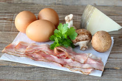 Ingredients for omelet Stock Image