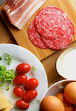 Ingredients of Omelet Royalty Free Stock Photo
