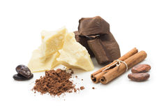 Ingredients for сooking  homemade chocolate Stock Image