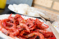Ingredients for paella Stock Photography