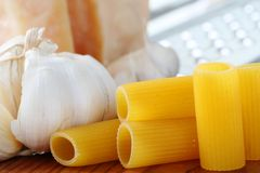 Ingredients for pasta stock image