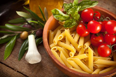 Ingredients of Pasta alla Norma Royalty Free Stock Images