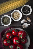 Ingredients for Pasta Dish Stock Photo