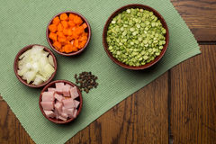 Ingredients for Pea Soup Royalty Free Stock Images