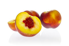 Ingredients: peaches. Ripe yellow-flesh peaches stock images