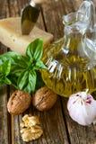 Ingredients for pesto Stock Photos