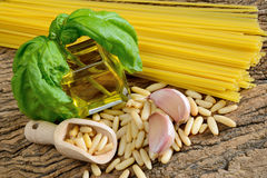 Ingredients by pesto genovese Royalty Free Stock Image