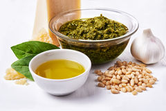 Ingredients for pesto Royalty Free Stock Images