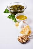 Ingredients for pesto Royalty Free Stock Photos