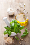 Ingredients for pesto sauce Stock Photos