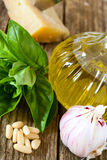 Ingredients for pesto sauce Royalty Free Stock Photography