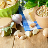Ingredients for pesto sauce Royalty Free Stock Photo