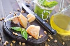 Ingredients for pesto Royalty Free Stock Photo