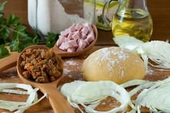 Ingredients For Piedmont Agnolotti Stock Images