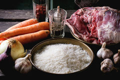 Ingredients for pilaf Stock Image