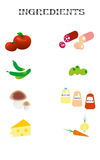 Ingredients for pizza Royalty Free Stock Images