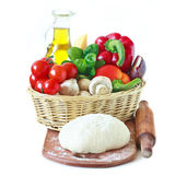 Ingredients for pizza. stock photo