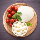 Ingredients for pizza margherita Stock Photos