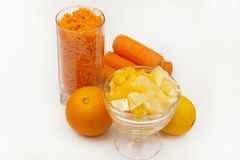 Ingredients for a popular carrot jam Royalty Free Stock Image
