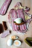 Ingredients pork roulade. Ingredients to prepare pork roulade Stock Images