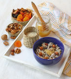 Ingredients for porridge Royalty Free Stock Photos