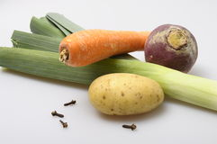 Ingredients for pot-au-feu Stock Image