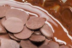 Ingredients for preparation of artigianal chocolate bar Stock Photography