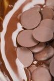 Ingredients for preparation of artigianal chocolate bar Stock Photo