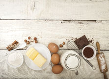 Ingredients for the preparation of bakery products Stock Image