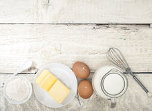 Ingredients for the preparation of bakery products Stock Images