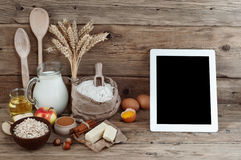 Ingredients for preparation of bakery products Stock Photography
