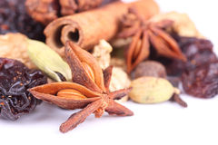 Ingredients for preparation mulled wine Royalty Free Stock Photography