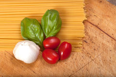 Ingredients for preparing a meal. Stock Images