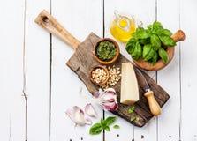 Ingredients for Preparing pesto Stock Photography