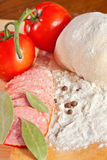 Ingredients for preparing pizza Stock Image