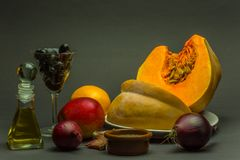 Ingredients-Pumpkins-Soup-1 Royalty Free Stock Photography