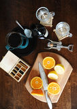 Ingredients for punch. Laid on the table Stock Photography
