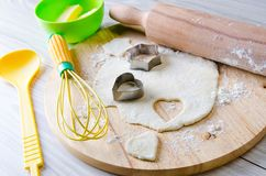 The ingredients ready for baking cookies. Ingredients ready for baking cookies Stock Photography