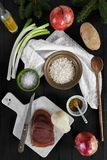 Risotto Ingredients stock images