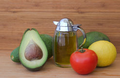 Ingredients for salad of avocado. Stock Photo